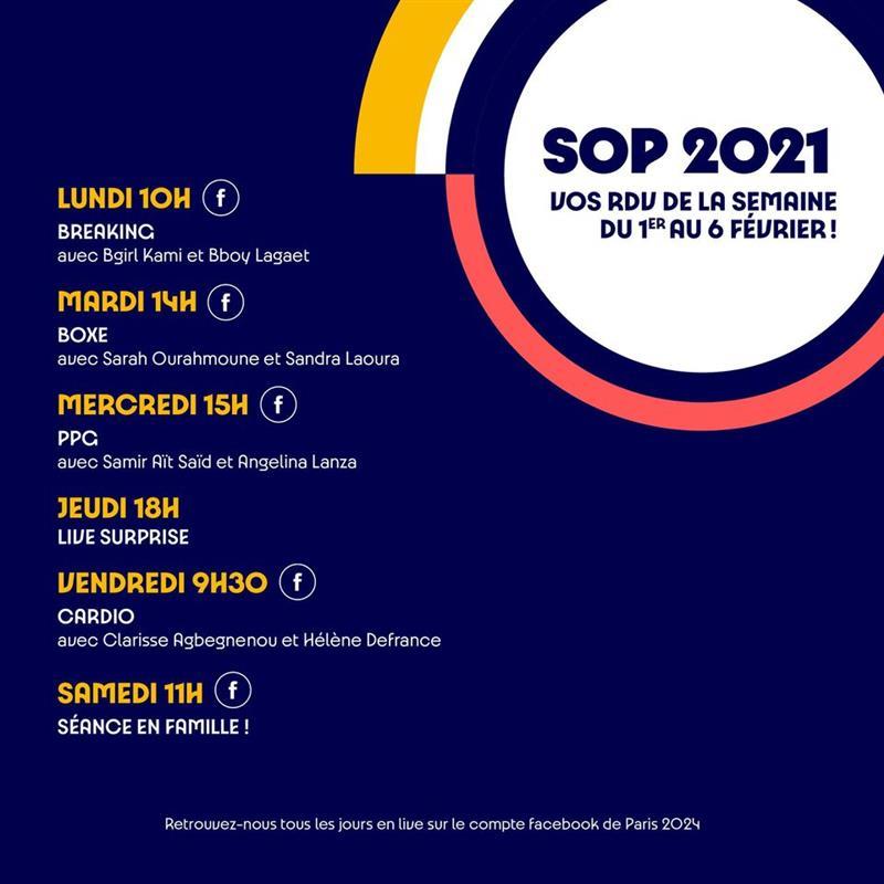 Propgramme de la SOP 2021